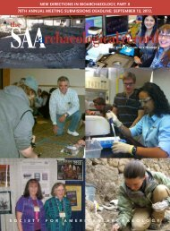 SAA Archaeological Record May 2012 - Society for American ...