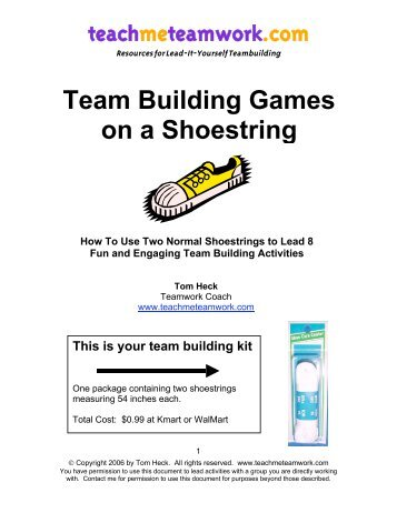 Team Building Games on a Shoestring - International Association of ...