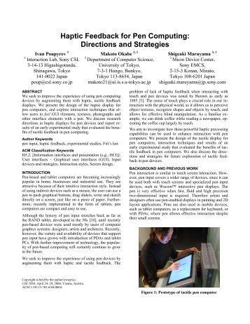 Early exposure to haptic feedback enhances ... - Springer Link