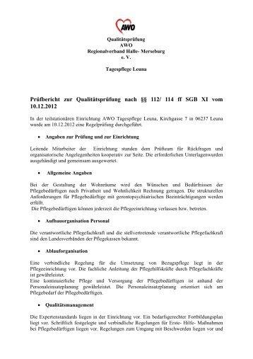 Prüfbericht TPFL Leuna - AWO Regionalverband Halle-Merseburg eV
