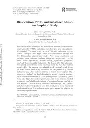 Dissociation, PTSD, and Substance Abuse: An ... - Seeking Safety