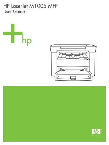 hp laserjet m1319f mfp user manual