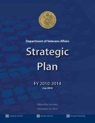 VA Strategic Plan FY 2010-2014 - US Department of Veterans Affairs