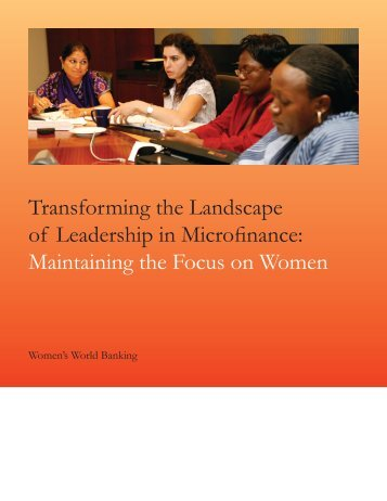 Transforming the Landscape of Leadership in Microfinance ... - AWID