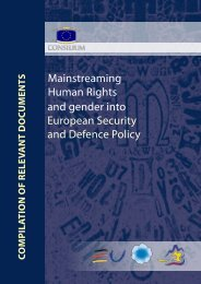 Mainstreaming Human Rights and gender into ESDP - Europa