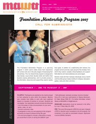 April / May 2006 - Mentoring Artists for Women's Art