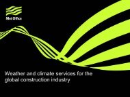 Weather and climate services for the global construction ... - Met Office
