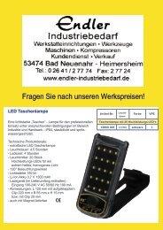 LED Arbeitsleuchten - Endler Industriebedarf