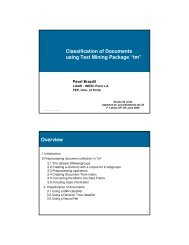 """Classification of Documents using Text Mining Package """"tm"""" Overview"""