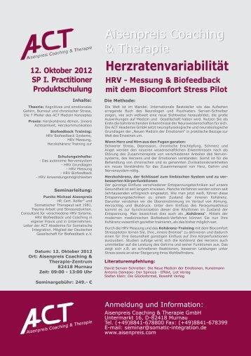 12.10.´12, Murnau - Herzkohärenz HRV-Biofeedback