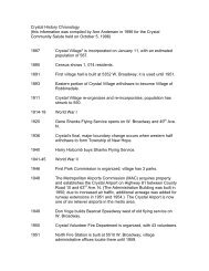 Crystal History Chronology - City of Crystal