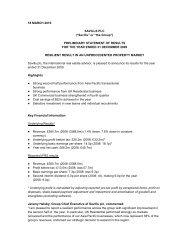 "18 MARCH 2010 SAVILLS PLC (""Savills"" or ""the ... - Investor relations"