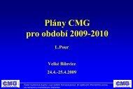 Plány CMG pro období 2009 - Nadační fond Česká myelomová ...