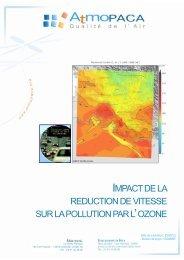 Impact de la réduction de vitesse sur la pollution à l'ozone - Atmo Paca