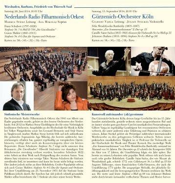 Orchesterkonzerte Thiersch-Saal