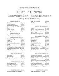 Seniority Listing for PestWorld 2014
