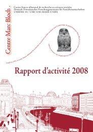 Rapport d'activité 2008 - Centre Marc Bloch - HU Berlin