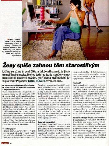 Ženy versus muži: souboj mozků (rozhovor). Týden, 2012, 7:27-33.