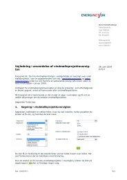Vejledning i anvendelse af vindmølleprojektoversig- ten - Energinet.dk