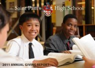 2011 Annual Giving Report March 20, 2012 - St Paul's High School