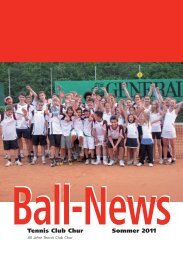 8-17 Uhr - Tennis Club Chur