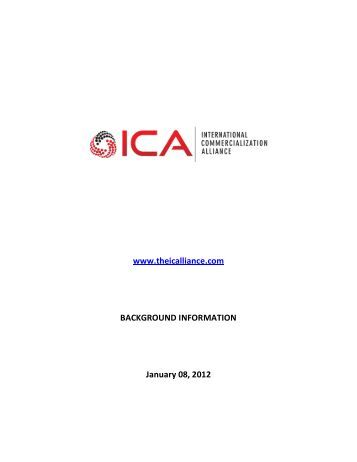 DRAFT CONCEPT PAPER - International Commercialization Alliance