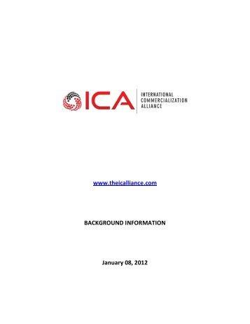 DRAFT CONCEPT PAPER - International Commercialization Alliance
