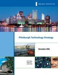 Pittsburgh Technology Strategy - Milken Institute