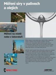 Měření síry v palivech a olejích - SPECTRO CS
