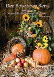 Erntedank - November - Bote vom Berg