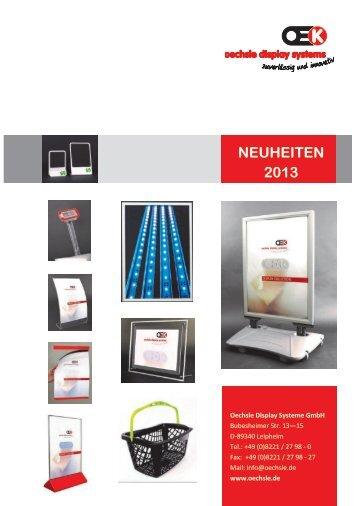 NEUHEITEN 2013 - Oechsle Display Systeme GmbH