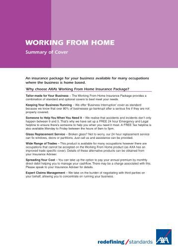 Working from home policy summary (PDF) - Business banking