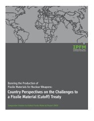 Banning the Production of Fissile Materials for Nuclear Weapons