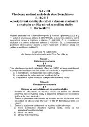 Sociálne služby v samospráve 2012 - Bernolákovo