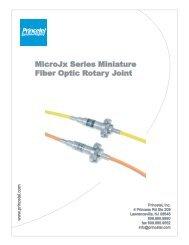 MicroJx Series Miniature Fiber Optic Rotary Joint