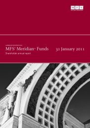 MFS® MeridianSM Funds