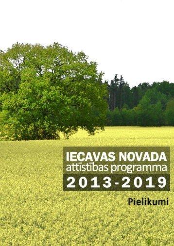 Attīstības programma - pielikumi - Iecavas novads