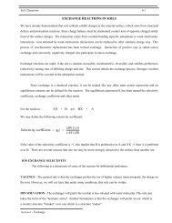 EXCHANGE REACTIONS IN SOILS ( )( ) Selectivity ... - LAWR
