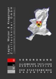 Textlicher Bebauungsplan 2007 - verdichter.at