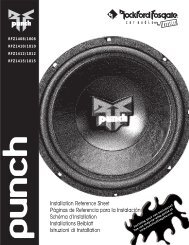1999 Punch RFZ Woofers Manual