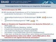 Fördermöglichkeiten für Etablierung von integrierten Studiengängen ...