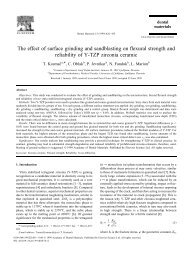 The effect of surface grinding and sandblasting on ... - ResearchGate