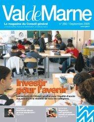 ValdeMarne n° 260 / Septembre 2009 - Conseil général du Val-de ...