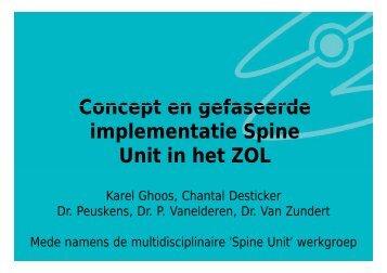 implementatie Spine Unit in het ZOL