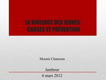 6 mars 2012 - NDJ, Mounir Chamoun