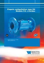 Clapet antipollution FC à brides - Watts Industries