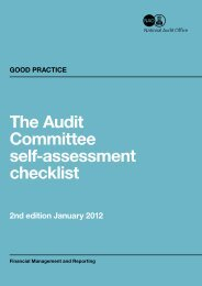 The Audit Committee self-assessment checklist - National Audit Office