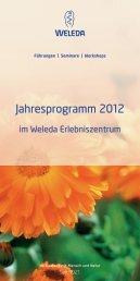 Jahresprogramm 2012 - Weleda