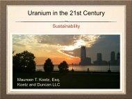 Uranium in the 21st Century
