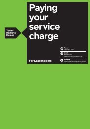 Paying your service charge - Tower Hamlets Homes